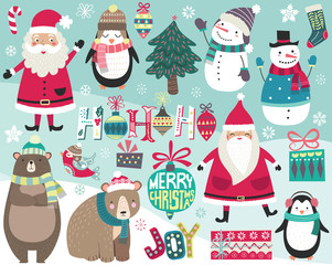 Cute Christmas Digital Art Collections Set
