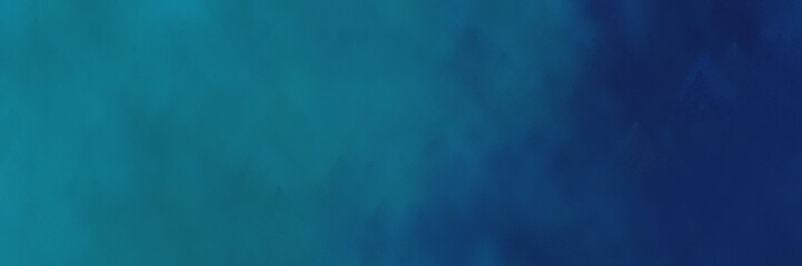 painting background texture with teal, midnight blue and dark cyan colors and space for text or image. can be used as header or banner