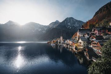 Hallstatt Village and Mountains - Hallstatt, Austria