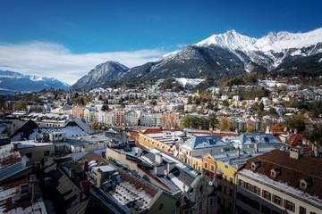 Aerial view of Innsbruck city - Innsbruck, Tyrol, Austria