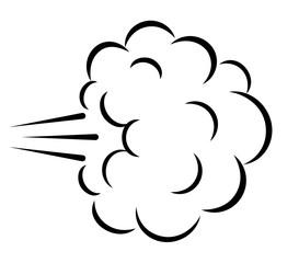 Comics explosion cloud vector illustration
