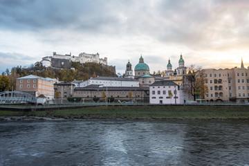 Salzburg skyline at sunset - Salzburg, Austria