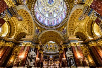 Deurstickers Boedapest Budapest, Ungheria, basilica di santo stefano