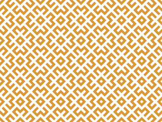 Foto op Canvas Geometrisch Abstract geometric pattern. A seamless vector background. White and gold ornament. Graphic modern pattern. Simple lattice graphic design
