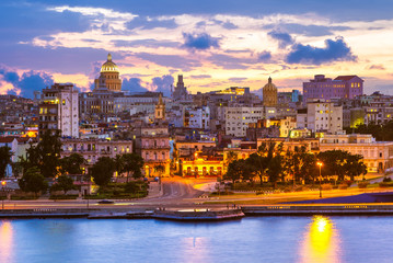 Canvas Prints Havana skyline of Havana (Habana), capital of Cuba