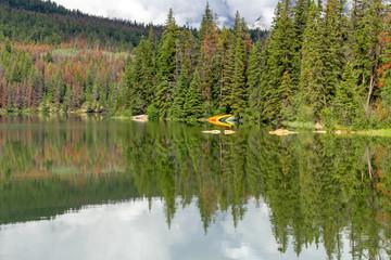 Kanada, Pyramid Lake in Jasper, Jasper Nationalpark