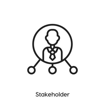 Stakeholder icon. Stakeholder icon vector. Linear style sign for mobile concept and web design. Stakeholder symbol illustration vector graphics - Vector