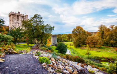 panorama of autumn park in Blarney  near Cork, Ireland