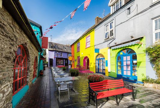 streets in center of Kinsale village near Cork, Ireland