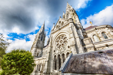 detail of facade of St. Fin Barre's Cathedral