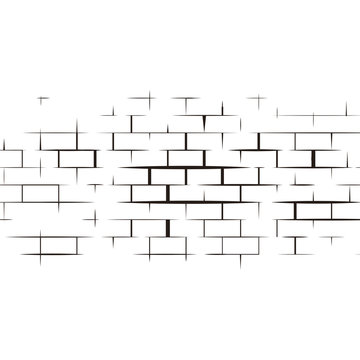 Vector illustration of wall and brick
