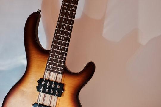 Bass guitar closeup