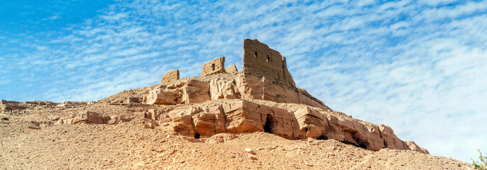 Old fortress close to Aswan in Egypt. Wall mural