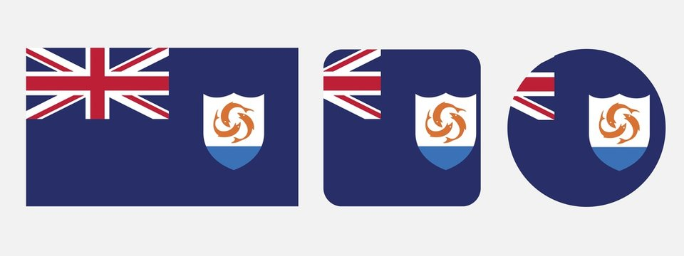 Anguilla flag, vector illustration