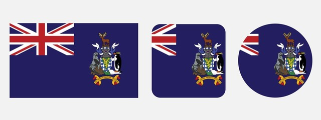 south georgia and the south sandwich islands flag, vector illustration