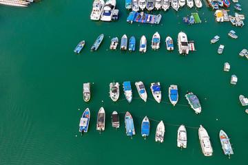 14 Nov 2019 Boat Anchored In The River at tko hk