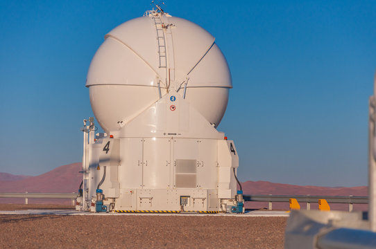 One of the auxiliary telescopes of the Paranal Observatory
