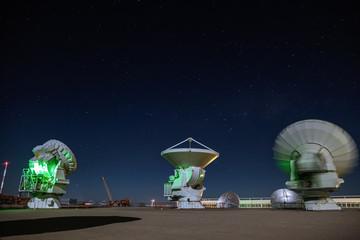 Alma Radio Observatory in the Desert of Atacama, Chile
