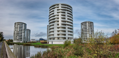 Five Sisters towers in Vejle city, Denmark