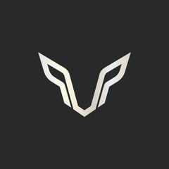 Symbol Face Wolf Predator. Wolf Logo Design