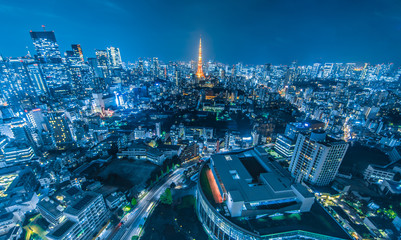 Fotorollo Tokio 東京都市風景 夜景 Night view of Tokyo
