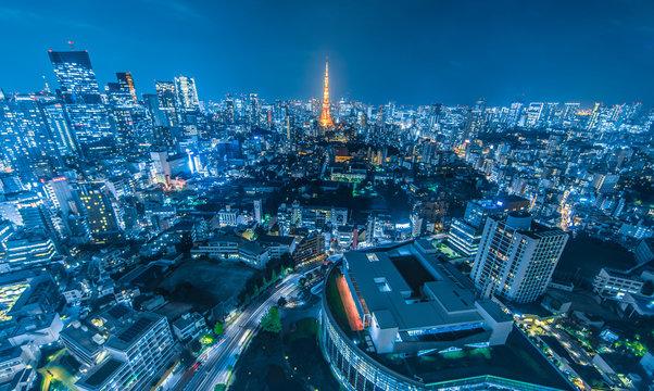 東京都市風景 夜景 Night view of Tokyo