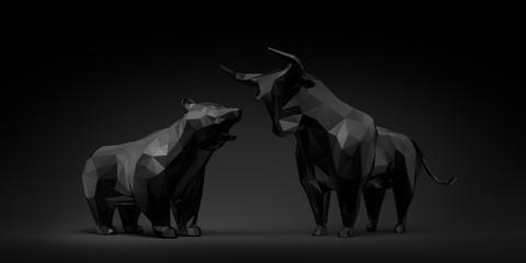 Bulle und Bär - Schwarz in Schwarz