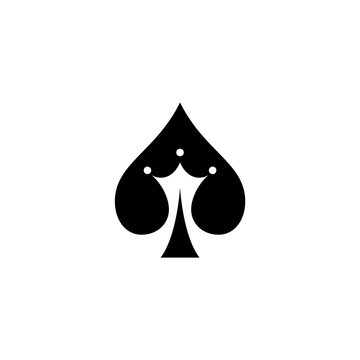 ace of spades and crown