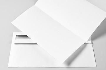 Blank Letterhead or Flyer and Envelope