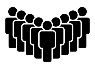 Fototapeta Large group of people, team or crowd flat vector icon for business apps and websites obraz