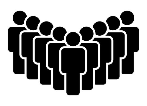 Large group of people, team or crowd flat vector icon for business apps and websites