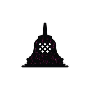 borobudur temple logo vector silhouette rustic