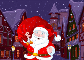 Foto op Canvas Sprookjeswereld Santa in Christmas Town