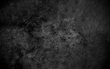 In de dag Stenen Old wall texture cement dark black gray background abstract grey color design are light with white gradient background.