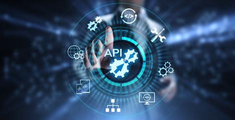 API Application Programming Interface Development technology concept. Wall mural