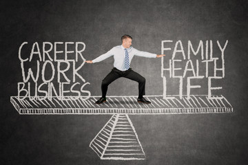 Work and family time management concept