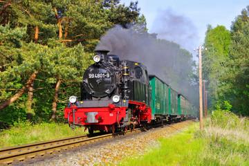 Ruegen Dampflock Rasender Roland- island Ruegen, old steam locomotive