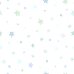 Estores personalizados infantiles con tu foto Seamless abstract pattern with little stars of different size and color on white background.