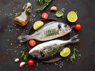 Fresh fish dorado - fototapety na wymiar