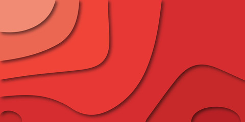 Red abstract background - modern concept of paper art style, vector.