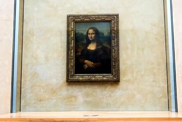 Mona Lisa by the Italian artist Leonardo da Vinci at the Louvre Museum, April 15, 2015 in Paris, France.