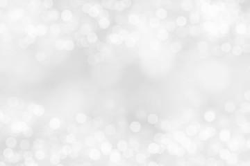 Wall Mural - white blur abstract background. bokeh christmas blurred beautiful shiny Christmas lights