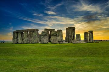 Wonderful Sunset view of Stonehenge
