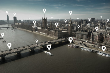 London and metropolitan EU Europe office building for network and future concept