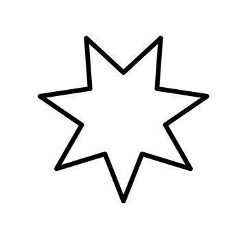 star seven pointed line style icon