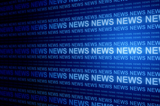Creative blue news background