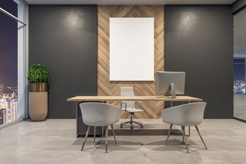 Fotomurales - Modern office interior with billboard