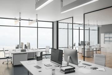 Scandinavian coworking office interior