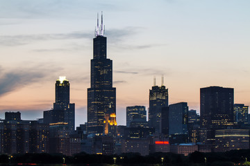 Wall Mural - Backlit Chicago wallpaper