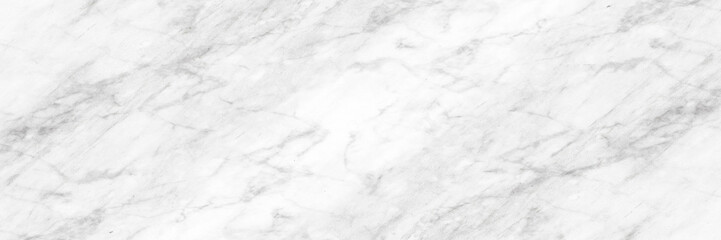 Fotobehang - White and gray light marble background.Long panoramic format.